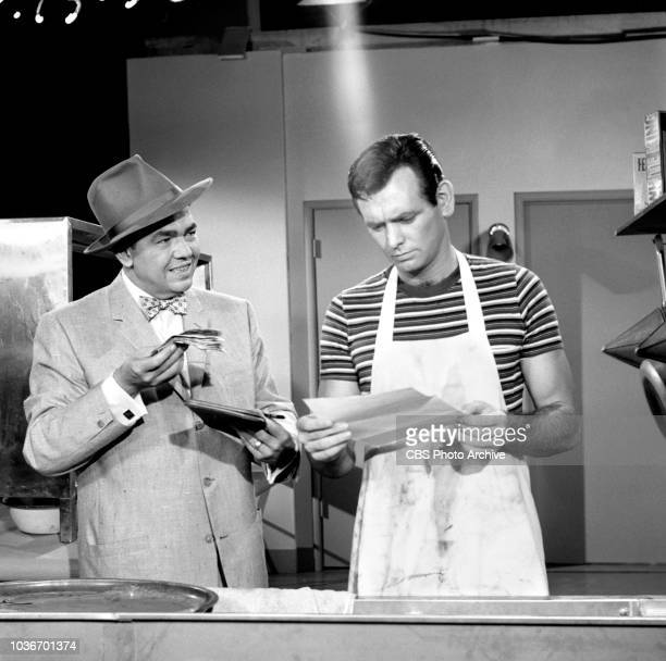 The Millionaire a CBS television program Episode titled The David Barrett Story originally aired October 1 1958 Los Angeles CA Left to right Marvin...