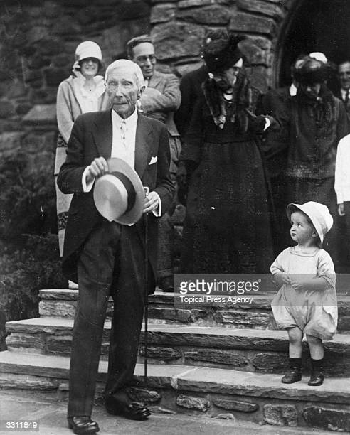 The millionaire John D Rockefeller on his 84th birthday