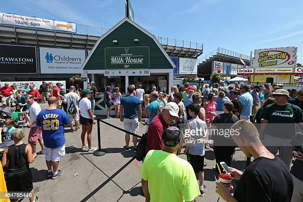 The Milwaukee Bucks attend the Wisconsin State Fair in West Allis, Wisconsin on August 6, 2015. NOTE TO USER: User expressly acknowledges and agrees...