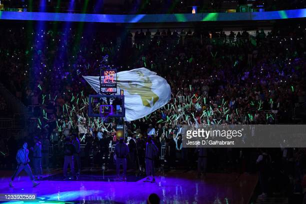 The Milwaukee Bucks fans celebrate during Game Three of the 2021 NBA Finals on July 11, 2021 at Fiserv Forum in Milwaukee, Wisconsin. NOTE TO USER:...