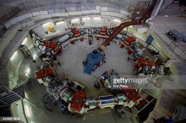 The Mimas accelerator injector of polarized particles of the Saturn Synchrotron at the Atomic Energy Center in Saclay France The unit went into...