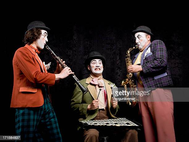 the mimes making music - mime stock photos and pictures