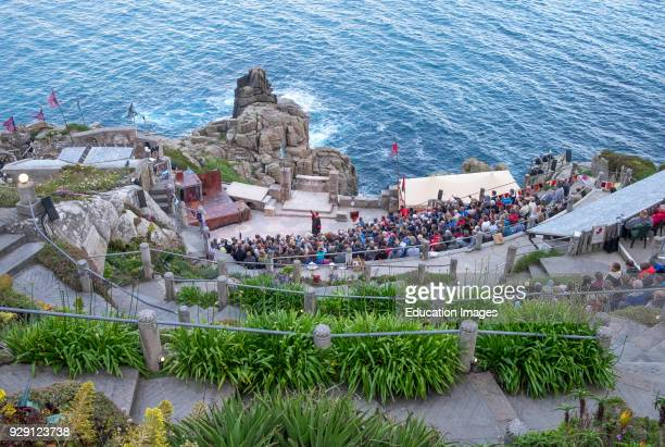 The Minack Theatre On The Coastal Cliffs At Porthcurno In Cornwall England UK