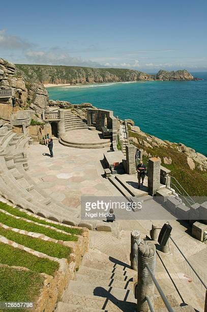 the minack theatre, porthcurno, nr penzance, great britain. - minack theatre stock pictures, royalty-free photos & images