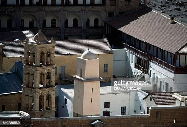 The minaret and the bell tower of Saint Catherine's Monastery 6th century Sinai Peninsula Egypt