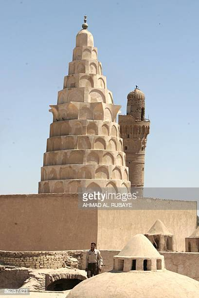 The minaret of a mosque at the once Jewish shrine of Ezekiel the prophet who followed the Judeans into the Babylonian exile in the 6th century BC in...