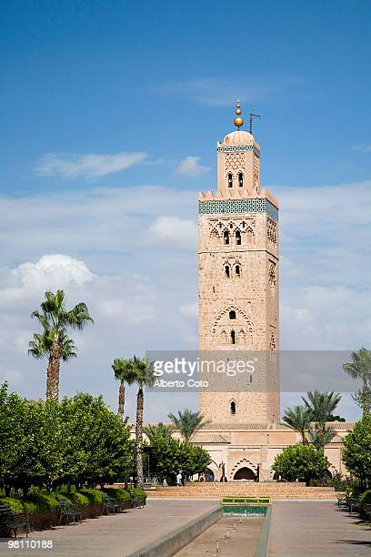 The minaret of Koutoubia Mosque in Marrakech