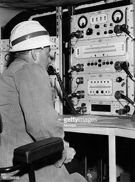 The miner of the future at the controls of 'ROLF' at Bevercotes Colliery Nottinghamshire July 1965 P018204