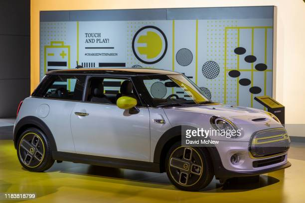 The Mini Cooper SE is shown at AutoMobility LA on November 21, 2019 in Los Angeles, California. The four-day press and trade event precedes the Los...