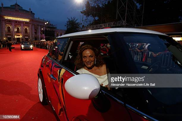 The Mini designed by Diane von Fuerstenberg attends the 18th Life Ball at the Town Hall on July 17, 2010 in Vienna, Austria. The Life Ball is an...