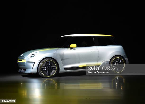 The Mini Electric Concept Car is unveiled by BMW during the auto trade show AutoMobility LA at the Los Angeles Convention Center November 289 in Los...