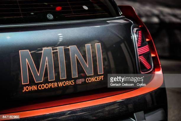 The Mini John Cooper Works GP Concept on display at the 2017 Frankfurt Auto Show 'Internationale Automobil Ausstellung' on September 13 2017 in...