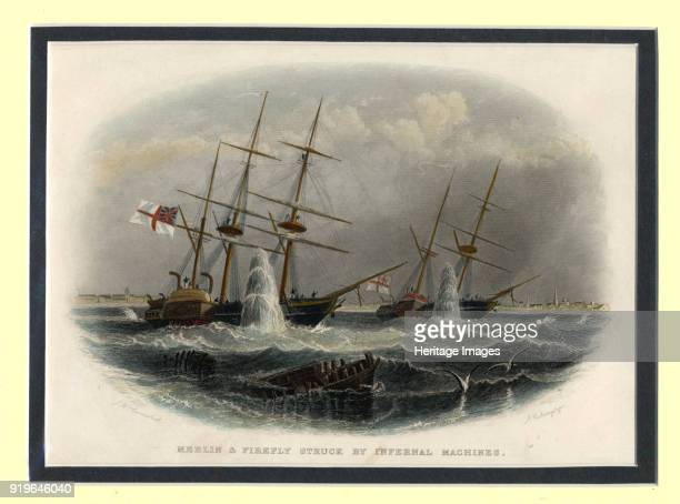 The mining of the Merlin and Firefly off Kronstadt on 9 June 1855 18551856 Private Collection