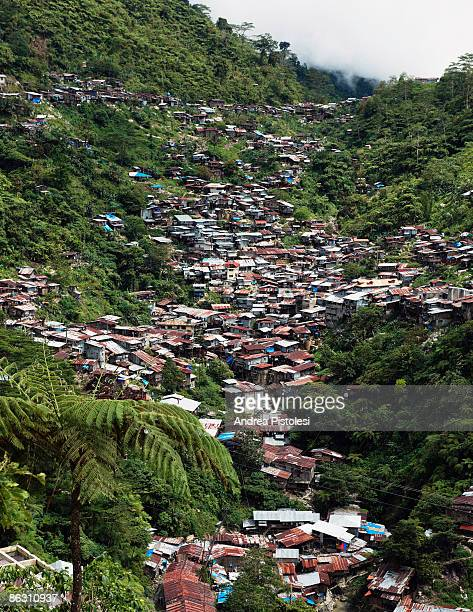 The mining settlement of Barangay on Mount Diwata Compostela Valley on Mindao Island in the Southern Philippines The mountain contains the largest...