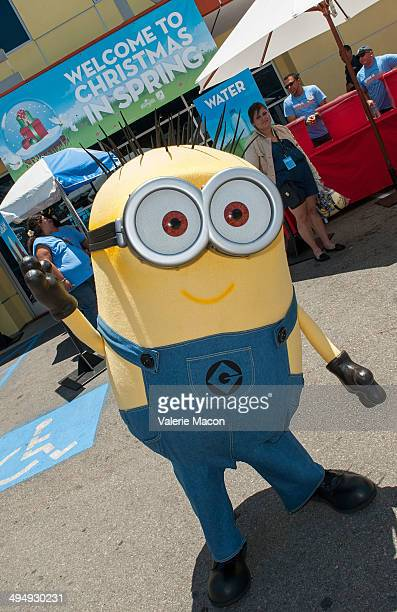 The Minions attend Universal Studios Hollywood 23rd Annual 'Christmas In Spring' Charity Event at MEND Transitional Living Center on May 31 2014 in...