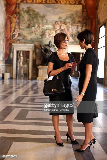 The Minister for Equal Oppurtunities of Italian Republic Mara Carfagna and the Minister of Education Universities and Research of Italian Republic...