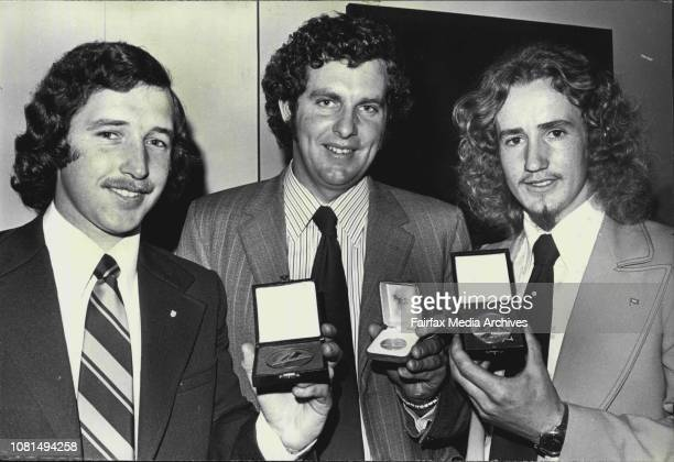 The Minister for Labour and Industry Mr F M Hewitt today announced the Apprentice of the Year 1974 at the APA Building Martin Place He was Gary Sims...