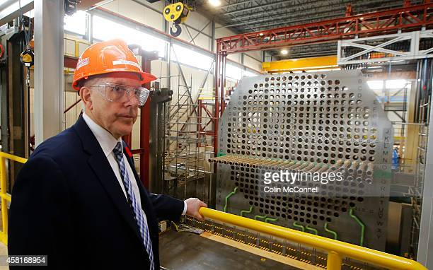The minister in the training facility A tour of Darlington nuclear plant and also a mock up of the reactors where crews will practice tasks before...