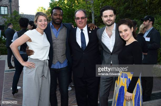 The Minister of Canadian Heritage The Honourable Melanie Joly actor Lyriq Bent the Consul General of Canada James Villeneuve and actors Richard Short...
