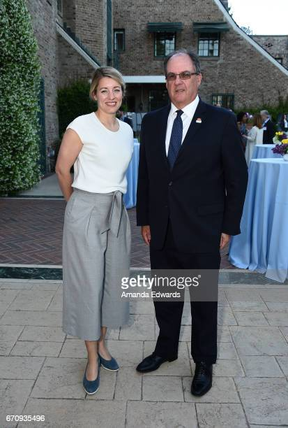 The Minister of Canadian Heritage The Honourable Melanie Joly and the Consul General of Canada James Villeneuve attend the premiere of 'Mary Kills...