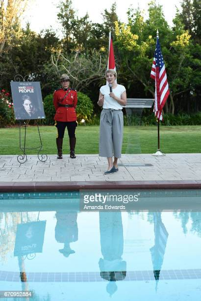The Minister of Canadian Heritage The Honourable Melanie Joly attends the premiere of 'Mary Kills People' at the Official Residence Of Canada on...