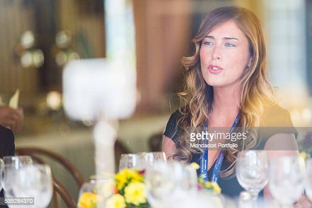 The Minister of Constitutional Reforms and Relations with Parliament of the Italian Republic Maria Elena Boschi at the Forum Ambrosetti in Villa...