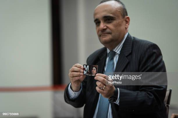 the Minister of Cultural Heritage and Activities and Tourism Alberto Bonisoli during the press conference to present the MIC the new card to access...