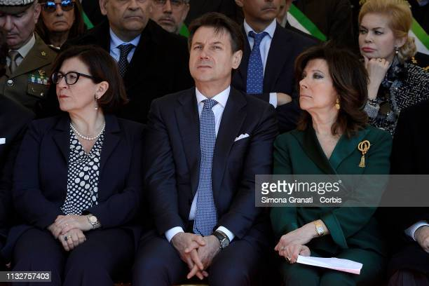 The Minister of Defence Elisabetta Trenta Premier Giuseppe Conte the President of the Senate Maria Elisabetta Alberti Casellati partecipate at the...