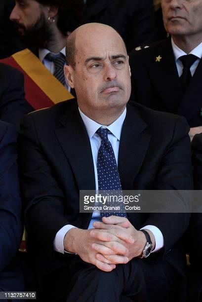 The Minister of Defence Elisabetta Trenta Premier Giuseppe Conte the President of the Senate Maria Elisabetta Alberti Casellati the President of the...