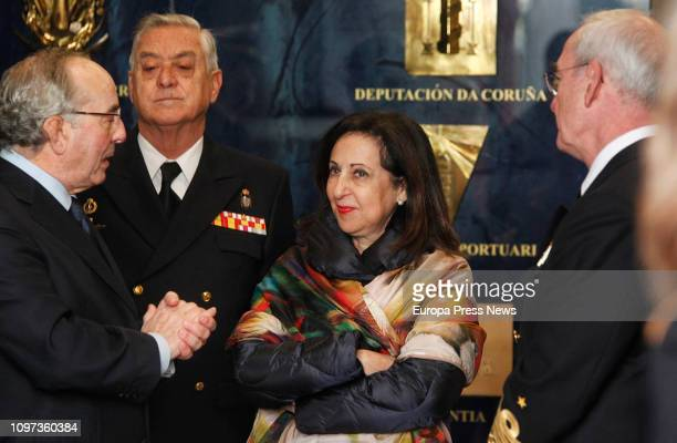 The minister of Defense Margarita Robles during her visit to the Museum of Naval Construction in Ferrol on January 21 2019 in Galicia Spain