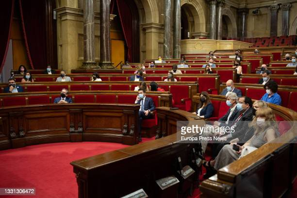 The Minister of Economy and Finance of the Generalitat, Jaume Giro , and the President of the Generalitat, Pere Aragonès , and the deputy secretary...