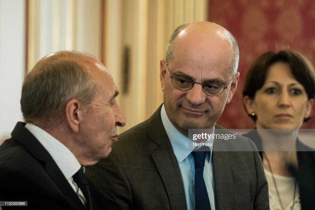 FRA: Minister Of Education Jean-Michel Blanquer In Lyon, France