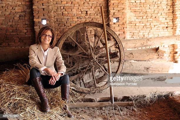 The Minister of Education, Universities and Research of Italian Republic Mariastella Gelmini photo shooted in her grandfather's farm. Milzano, Italy....