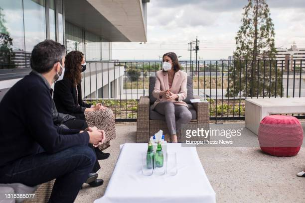 The Minister of Industry, Trade and Tourism, Reyes Maroto during a meeting with representatives of Netflix at its headquarters in Spain, on 30 April,...