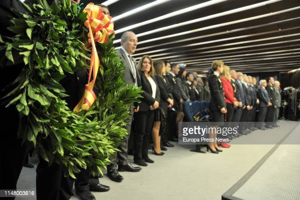 The minister of Interior Fernando GrandeMarlaska attends a tribute to the first woman police officer killed by ETA María José García Sánchez murdered...