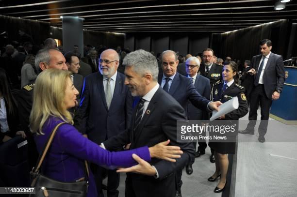 The minister of Interior Fernando GrandeMarlaska the Basque Country senior prosecutor Maria Angeles Montes the delegate of the Government in Euskadi...