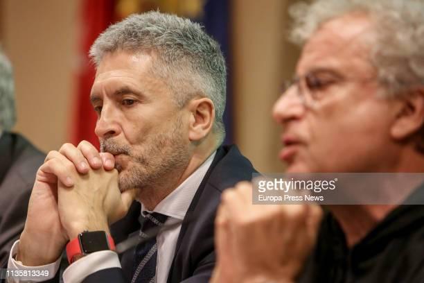 The minister of internal affairs Fernando GrandeMarlaska assists to the presentation of the book 'Heridos y olvidados los supervivientes del...