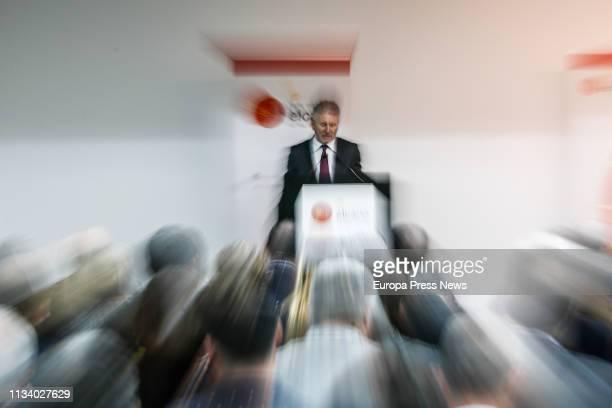 The minister of Internal Affairs minister Fernando GrandeMarlaska is seen during the presentation of the book 'Yihadismo y yihadistas en España...