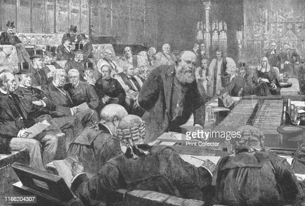The Ministerial Bench of the House of Lords, 1886-1892', . Scene in the Palace of Westminster in London, during the final term of the Marquis of...