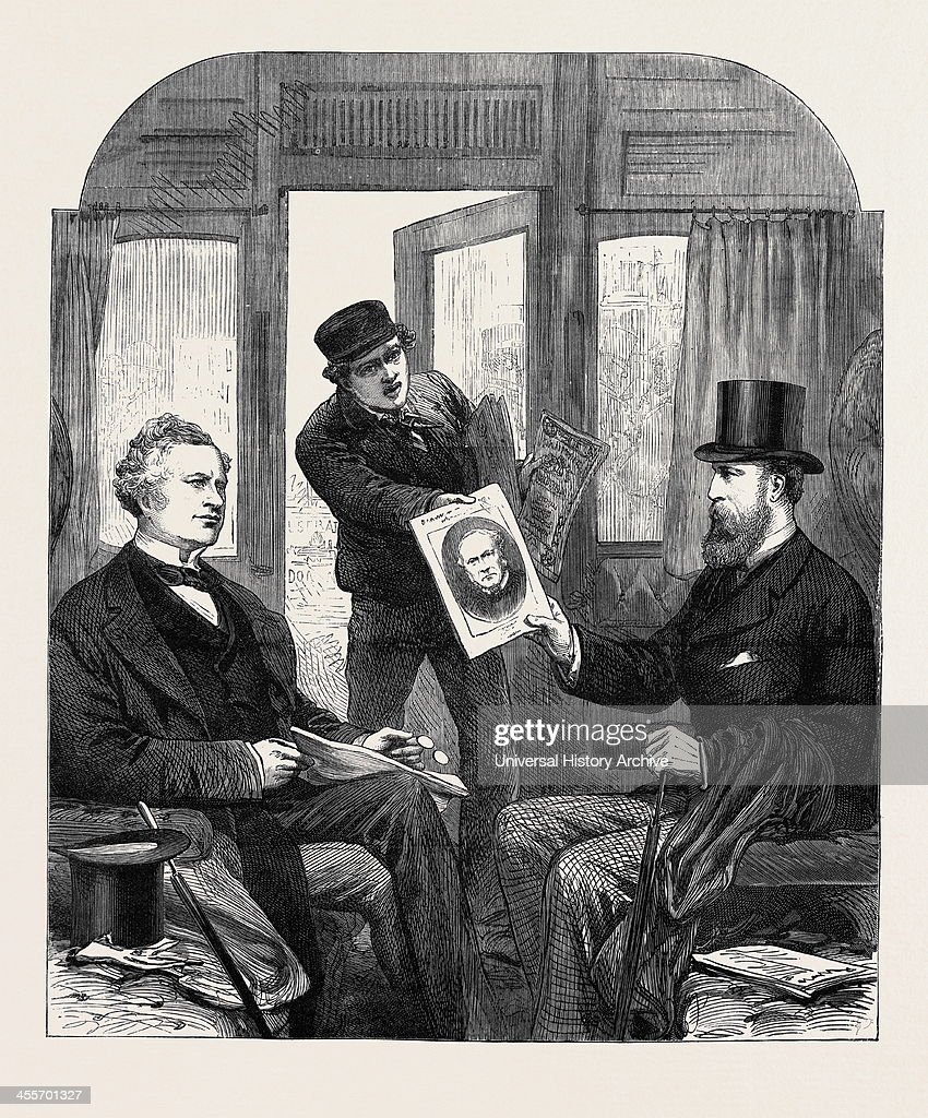 The Ministerial Crisis: A Sketch At The Great Western Railway Station, Paddingto : News Photo
