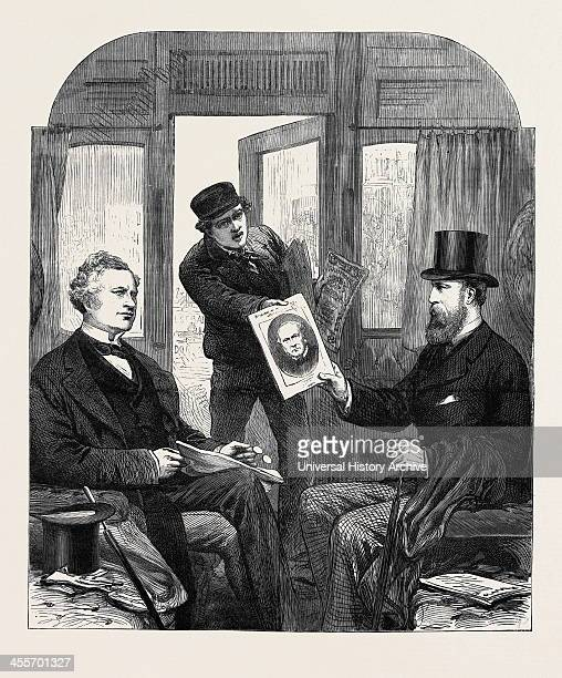 A Sketch At The Great Western Railway Station Paddington Friday April 23 1880