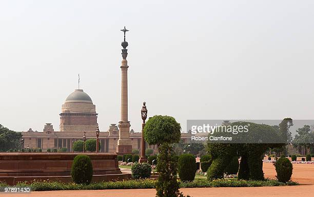 The Ministry of Defence building is seen on March 17 2010 in Delhi India