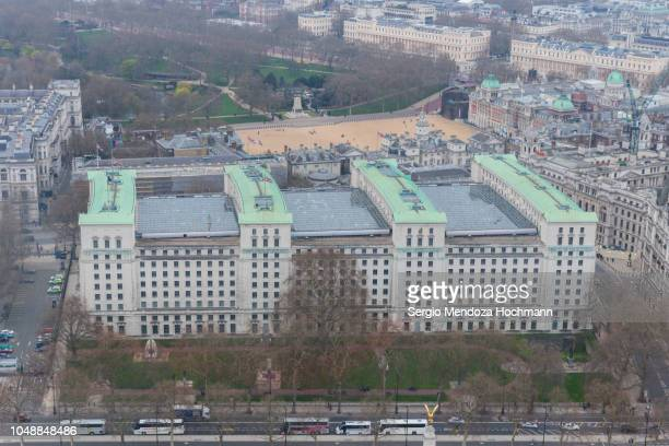 the ministry of defense and the london skyline in 2018- london, england - department of defense stock pictures, royalty-free photos & images