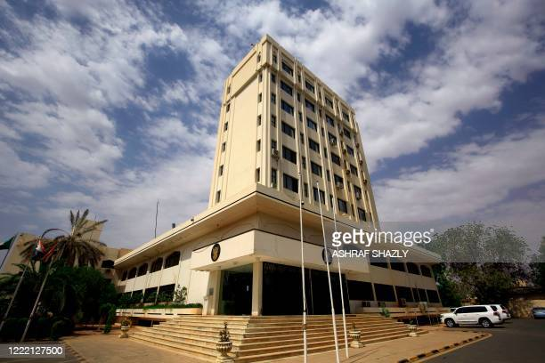 The Ministry of Foreign Affairs building is pictured in the Sudanese capital Khartoum, on June 23, 2020. - Sudan is close to finalising a deal with...