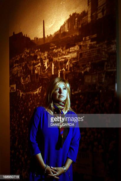 The Ministry of Government of the Buenos Aires province and grandniece of Eva Duarte de Peron Evita poses at the Evita Museum in Buenos Aires on May...