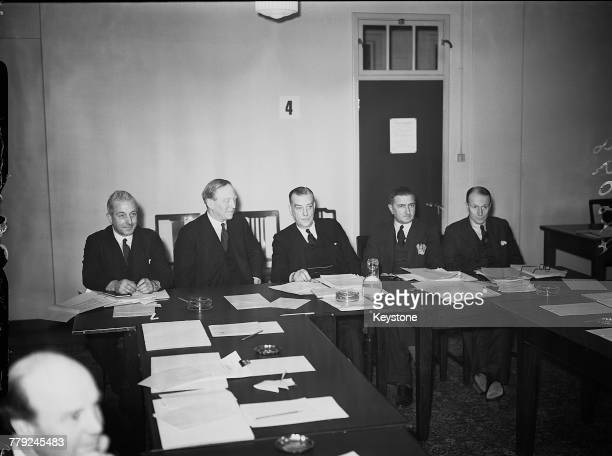 The Ministry of Supply's Advisory Council in session London 25th January 1940 The council was set up by the first Minister of Supply Leslie Burgin to...