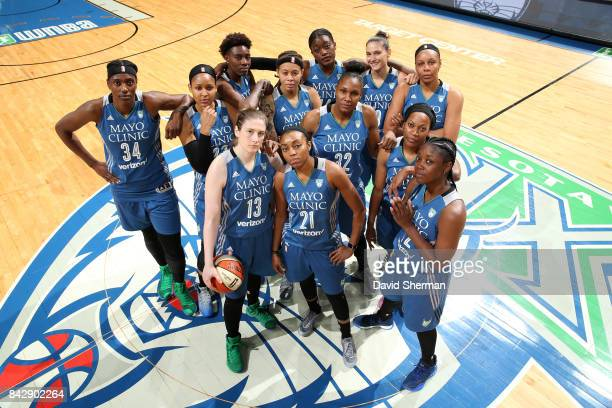 The Minnesota Lynx pose for the annual team portrait on September 3 2017 at Xcel Energy Center in St Paul Minnesota NOTE TO USER User expressly...