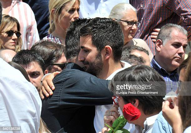The Minnesota Timberwolves basketball player Ricky Rubio attends the funeral for his mother Tona Vives at Sant Pere church in El Maresme on May 27...