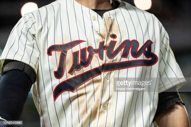 The Minnesota Twins alternate jersey against the Detroit Tigers on September 26 2018 at Target Field in Minneapolis Minnesota The Tigers defeated the...