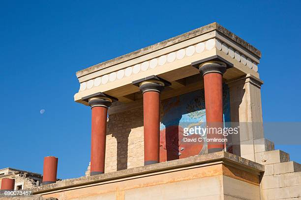 the minoan palace of knossos, iraklio, crete - minoan stock photos and pictures